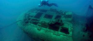 Λέρος, Ιστορικό ναυάγιο, Καταδύσεις